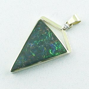 8.71 gr. gold pendant with 11.87 ct Boulder Opal + Diamond, pic2