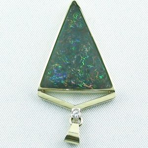 8.71 gr. gold pendant with 11.87 ct Boulder Opal + Diamond, pic4