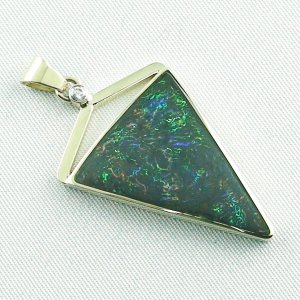 8.71 gr. gold pendant with 11.87 ct Boulder Opal + Diamond, pic6