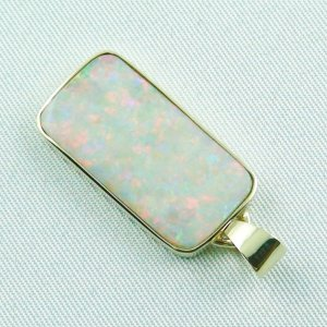 4.41 gr opalpendant, gold pendant 14k with white opal 7.20 ct, pic3