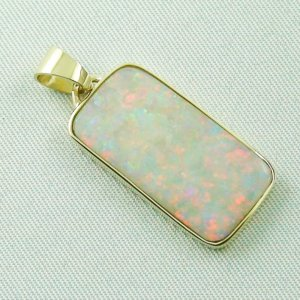 4.41 gr opalpendant, gold pendant 14k with white opal 7.20 ct, pic6