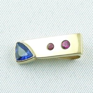 3.34 Gold pendant 585 / 14k with 0,80 ct sapphire and rubies, pic2