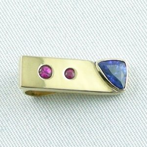 3.34 Gold pendant 585 / 14k with 0,80 ct sapphire and rubies, pic4