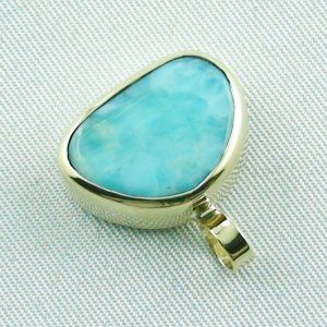 4.41 gr. gold pendant with 10.34 ct larimar gemstone, pic3