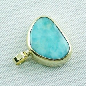 4.41 gr. gold pendant with 10.34 ct larimar gemstone, pic5