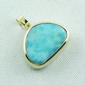 4.41 gr. gold pendant with 10.34 ct larimar gemstone, pic6