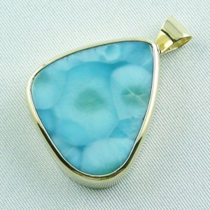 14.01 gr. gold pendant with 43,98 ct larimar gemstone, pic2
