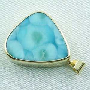 14.01 gr. gold pendant with 43,98 ct larimar gemstone, pic3