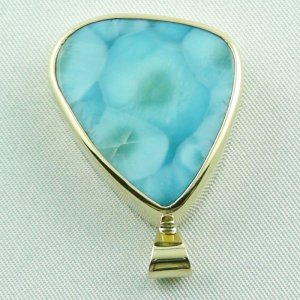 14.01 gr. gold pendant with 43,98 ct larimar gemstone, pic4