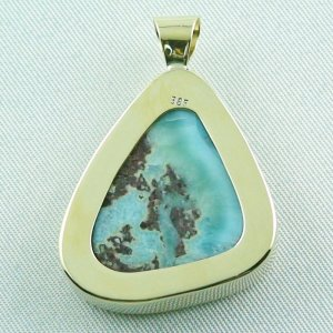 14.01 gr. gold pendant with 43,98 ct larimar gemstone, pic7