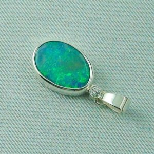 1.62 gr. opal pendant, silver pendant 925, 1.68 ct Black Crystal Opal, pic3