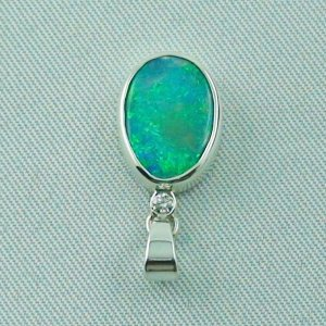 1.62 gr. opal pendant, silver pendant 925, 1.68 ct Black Crystal Opal, pic4