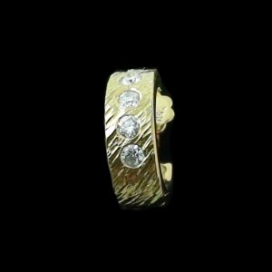 4.52 gr Diamant-Ohrstecker 3/4 Creole Ohrring 18k u 0.25 ct Diamanten, Bild2