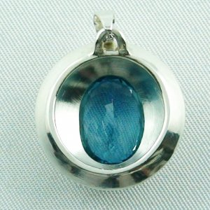 14.79 gr. Silver pendant and necklace with 7.64 ct blue topaz, pic7