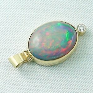 5.42 gr. gold pendant with 10.64 ct Welo Opal, pic5