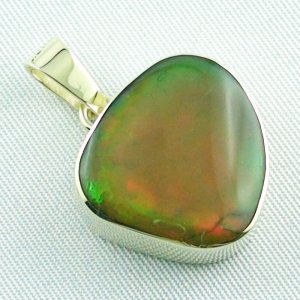 6.47 gr. Gold pendant with 12.39 ct Welo Opal, pic6