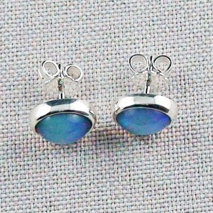2.37 gr ear studs, 935 silver earrings, 2.48 ct welo opals