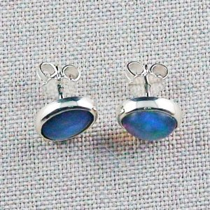2.29 gr stud earrings, 935 silver earrings, 2.08 ct Welo opals, pic1