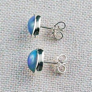 2.29 gr stud earrings, 935 silver earrings, 2.08 ct Welo opals, pic2