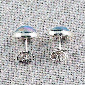 2.29 gr stud earrings, 935 silver earrings, 2.08 ct Welo opals, pic3