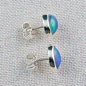 2.29 gr stud earrings, 935 silver earrings, 2.08 ct Welo opals, pic4