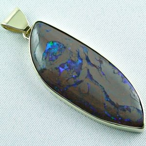 opalpendant, gold pendant 14k with boulder opal 10,50 ct