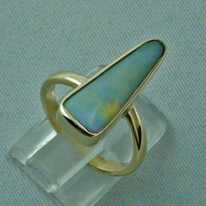 5.07 gr opalring, 14k goldring, ladies ring with blackcrystal opal, pic5