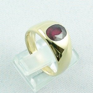 12,80 gr rubyring, 18k goldring, ladies ring with ruby, pic5