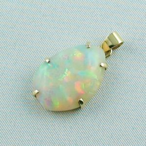 4,35 gr. opalpendant, gold pendant 18k with Welo Opal 10,40 ct, pic2
