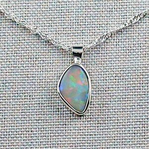 3.76 gr Silver Necklace with Opal-Pendant, White Opal, pic1