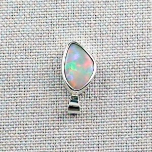 3.76 gr Silver Necklace with Opal-Pendant, White Opal, pic4