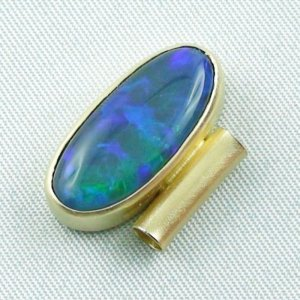 4.09 gr opalpendant, gold pendant 18k, black crystal opal 7.15 ct, pic3