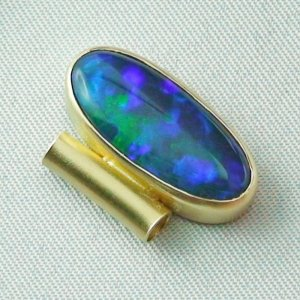 4.09 gr opalpendant, gold pendant 18k, black crystal opal 7.15 ct, pic5