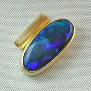 4.09 gr opalpendant, gold pendant 18k, black crystal opal 7.15 ct, pic6