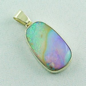 6.66 gr Opalpendant, Gold Pendant 14k with Boulder Pipe Opal, pic5