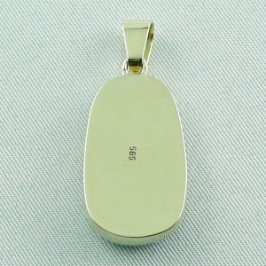 6.66 gr Opalpendant, Gold Pendant 14k with Boulder Pipe Opal, pic6