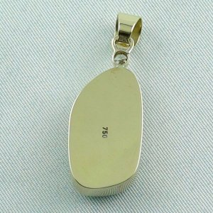 6,60 gr opalpendant, gold pendant 18k with Welo Opal, diamond, pic7