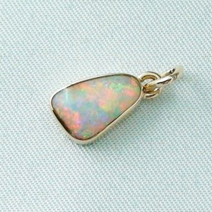 1,29 gr opal pendant, rose gold pendant 18k with crystal opal 1,78 ct, pic2