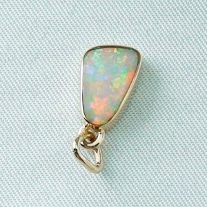1,29 gr opal pendant, rose gold pendant 18k with crystal opal 1,78 ct, pic4