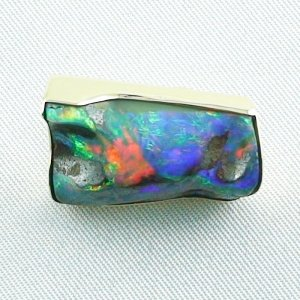 8,23 gr opalpendant, gold pendant 18k with boulder opal 18,95 ct, pic1