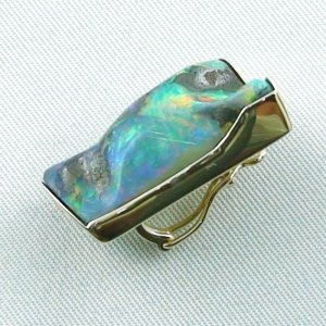 8,23 gr opalpendant, gold pendant 18k with boulder opal 18,95 ct, pic3