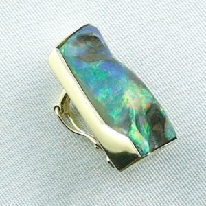 8,23 gr opalpendant, gold pendant 18k with boulder opal 18,95 ct, pic4