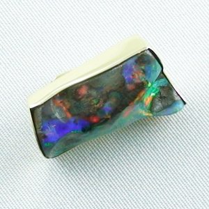 8,23 gr opalpendant, gold pendant 18k with boulder opal 18,95 ct, pic5
