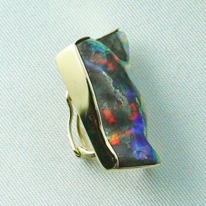 8,23 gr opalpendant, gold pendant 18k with boulder opal 18,95 ct, pic6