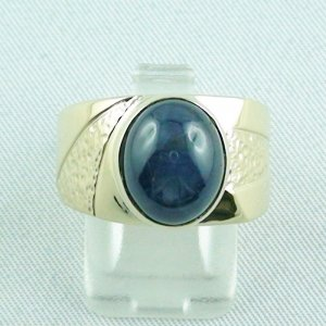 15.66 gr sapphirering, 14k goldring, man ring with star sapphire, pic1