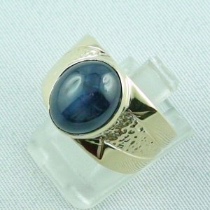 15.66 gr sapphirering, 14k goldring, man ring with star sapphire, pic2