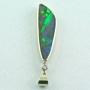opalpendant, gold pendant 14k with boulder opal 5.35 ct, pic4