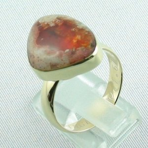 Opalring, 14k goldring, ladies ring with fire opal, pic3