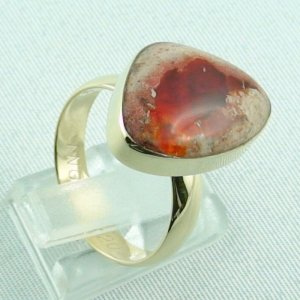 Opalring, 14k goldring, ladies ring with fire opal, pic5