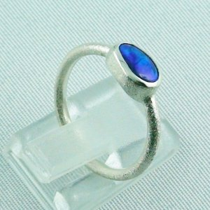 2.32 gr opalring, 925 silverring opal, ladies ring black opal, pic5